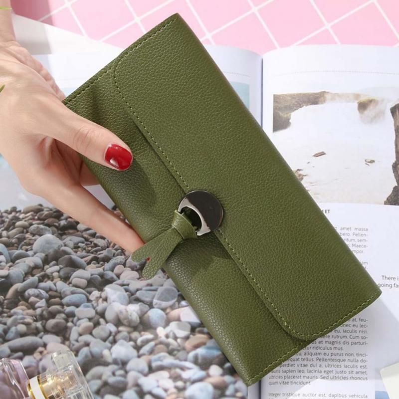 Wallets Women Candy Color Brand Purses PU Leather Ladies Wallet Long Hasp Female Purse Card Holder Clutch Wallet in Wallets from Luggage Bags