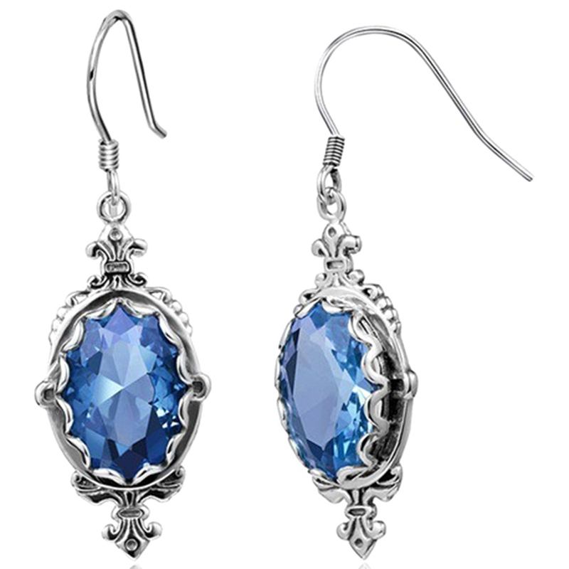 Jewelry Gift New Vintage Blue Drop Earrings For Women Simple Dangle Earrings Wholesale Drop Shipping