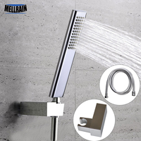 Quality brass hand hold shower head set with ABS shower holder & 1.5 meter stainless steel hose bright chromed free shipping