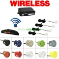 Car LED 4 Sensors Wireless Parking Sensor Reversing Backup Radar 10 Colors #J-882