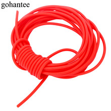 gohantee Red 5M Natural Latex Rubber Tube Elastica Bungee for Hunting Slingshot Catapult 1.6mmX3.2mm 1632 Rubber Bands Tubes