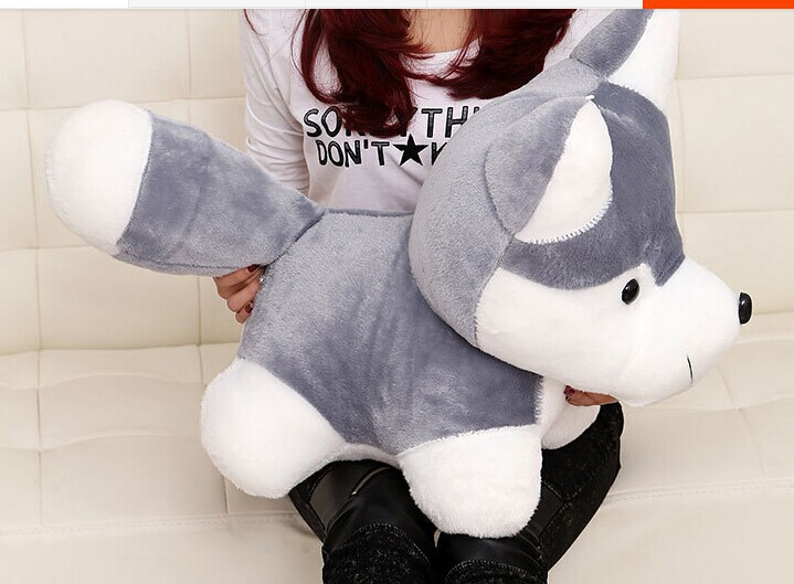 stuffed animal 65cm big head husky plush toy cute dog doll gift w3226 45cm cute dog plush toy stuffed cute husky dog toy kids doll kawaii animal gift home decoration creative children birthday gift