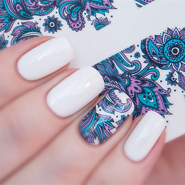 Blooming Flower Nail Sticker