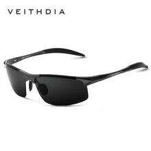 Поляризованные солнцезащитные очки из алюминиевого сплава. Мужские линзы. Зеркальные солнцезащитные очки для рыбалки, спорта и активного отдыха на свежем воздухе. Очки 6518