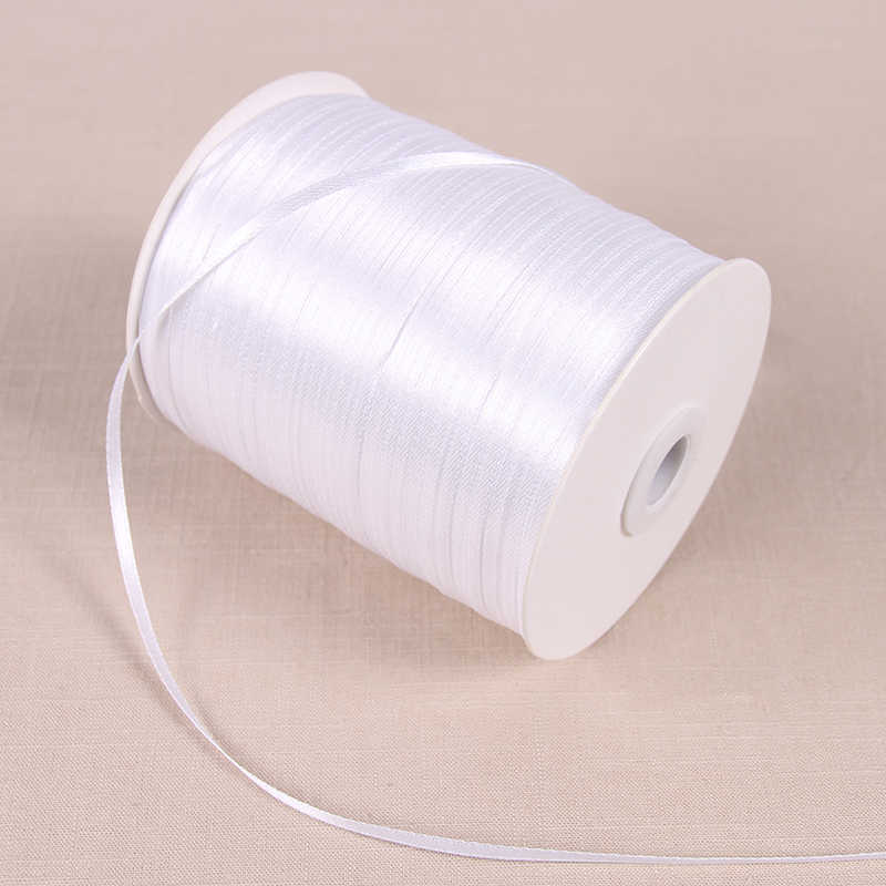 3mm Satin Ribbons 22 Meters/Lots DIY Handmade Crafts Supplies Wedding Birthday Party Decoration Gift Box Wrapping White Ribbons
