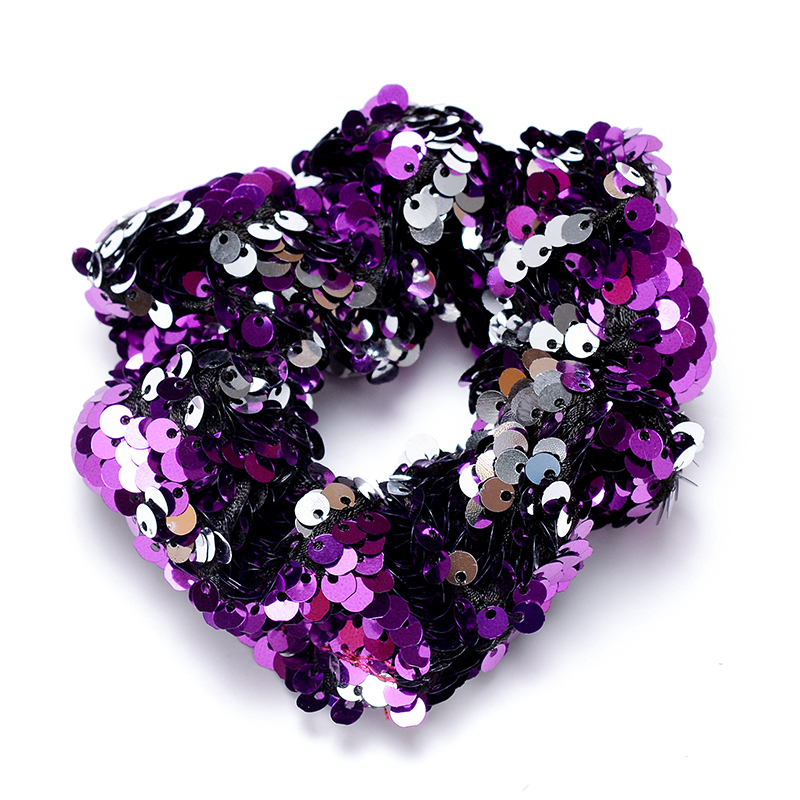 Fashion Sequin Women Scrunchie Glitter Hair Ties Girls Elastic Hair Bands for Women Hair Ponytail Holders Party Hair Accessories in Women 39 s Hair Accessories from Apparel Accessories