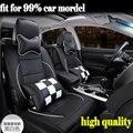 De Cuero de lujo de LA PU leather Car Seat Covers 5 de Protección Del Asiento de Coche para Chrysler Dodge Durango Nitro Ram 1500 2500 3500 4500,