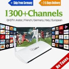 Leadcool stb IPTV Inteligente Android tv Box Media Player Con Suscripción IPTV Árabe Francés 1300 + Europa 1 años de Italia Receptores de TELEVISIÓN