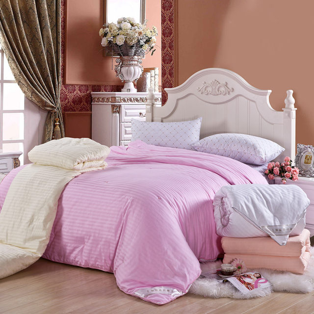 880f2e184b SMAVIA High Grade Chinese Silk Quilt 100% Mulberry Silk Comforter with 100%  Cotton Cover Silk Blanket for Winter Spring Custom