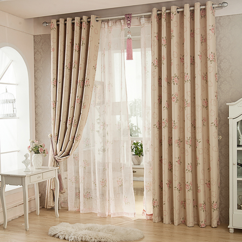 Lace bedroom curtains