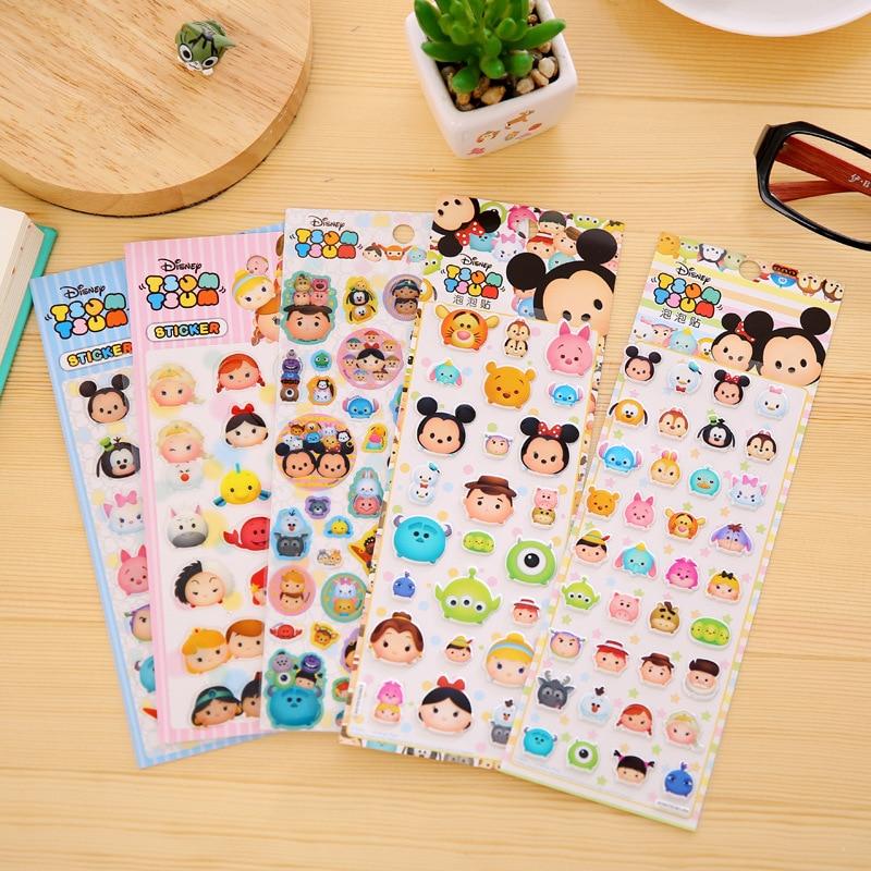 Cute Crystal Tsum Cartoon Decorative Sticker Diary Album Label Sticker DIY Scrapbooking Stationery Stickers Escolar фигурка коллекционная tsum tsum