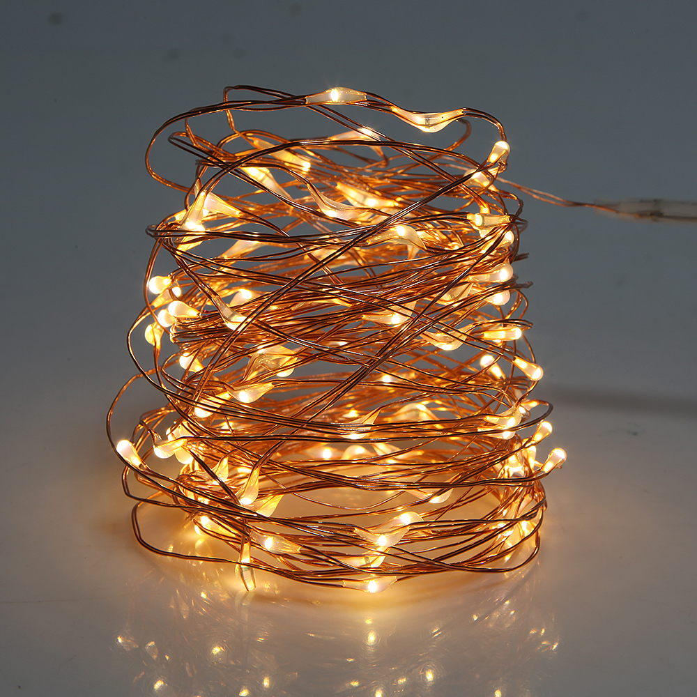 10M 100LED USB String Light 5v Copper Wire Christmas Festival Wedding Party Garland Decoration Fairy Lights
