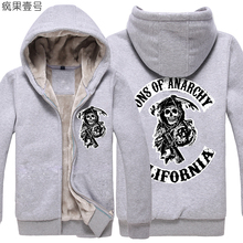 More than 2016 new winter chaos SONS OF ANARCHY sweatshirt Hiroko D zipper thicker fleece hooded jacket hoodies