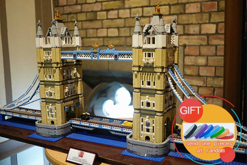 17004 4295pcs London bridge set Model Building Blocks Kits Brick DIY Toys Compatible with 10214 Gifts lepin in stock new lepin 17004 city street series london bridge model building kits assembling brick toys compatible 10214