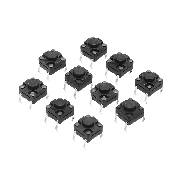 20Pcs 6*6*5MM 4PIN Tact Switch DIP SMD Momentary Tact Tactile Push Button Switch Waterproof Micro Switch Self-reset