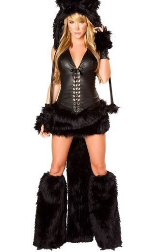 2d56038b96a Free Shipping Hot Popular Extremely Sexy Cat Costumes For Women 3S1103  Deluxe Black Cat Corset Costume Adult Animal Costumes-in Sexy Costumes from  Novelty ...