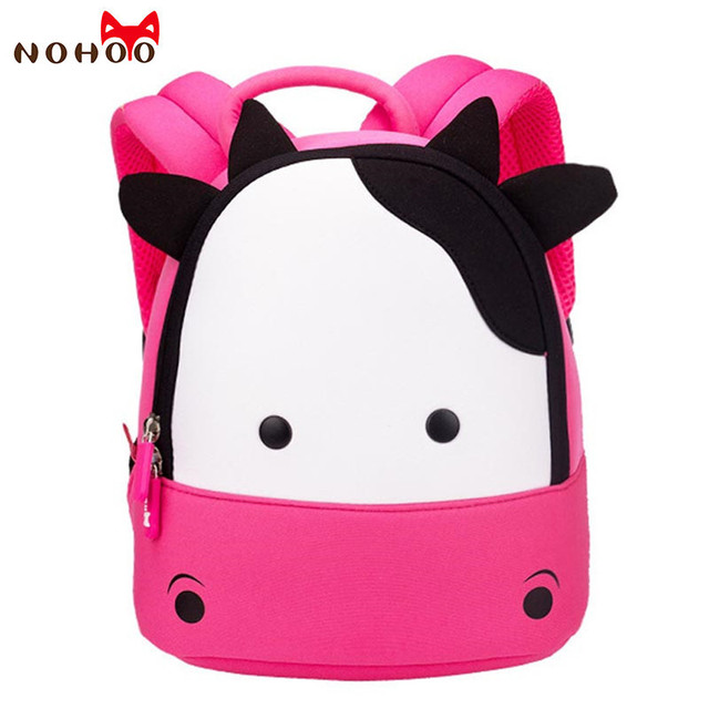 c15e890cf1 Nohoo 3D Cow Animal Girls Backpack Waterproof Toddler Baby Kids School  Backpack Preschool Bag Mini Backpacks for Toddlers