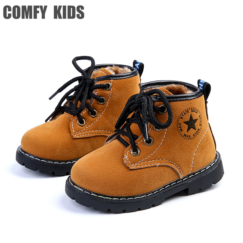2017 winter new child boys girls boots shoes fashion rubber sole comfy kids snow boots baby girls toddler shoes boys snow boots