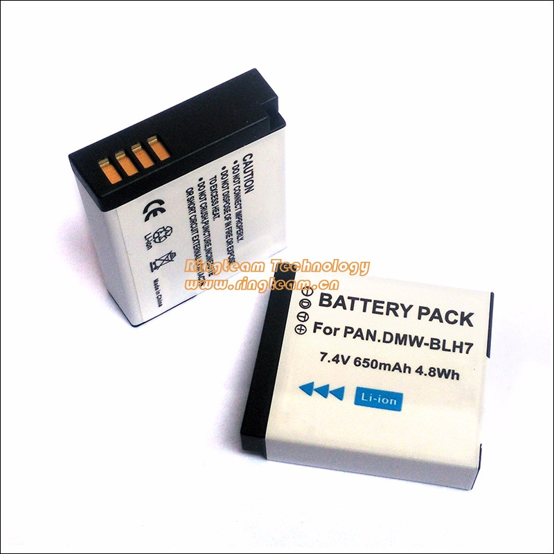 2Pcs/Lot Battery Pack DMW BLH7 DMW-BLH7 for Panasonic Digital Lumix Cameras DMC-GM1 GM1 DMC-GM5 GM5 DMC-GF7 GF7 DMC-GF8 GF8