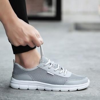 812dd38c MAISMODA 2018 hombres zapatos casuales transpirables zapatillas de deporte  cómodos de malla ligero Atlético caminar correr deportes YL415