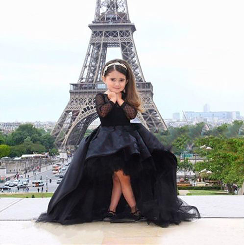 Custom Made Flower Girl Black Trailing Dress Kids Party Dance Prom Pageant Gown managing projects made simple