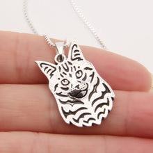 1 шт ожерелье Мейн енот с 3d вырезами кулон в виде щенка собаки