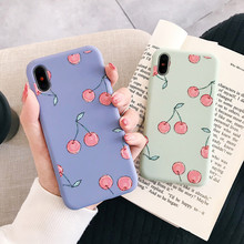Summer fruit candy cherry phone case silicone soft cover for coque iphone 7 7Plus 8 6 6s plus x xs max xr cute girl cases capa