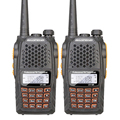 2PCS Baofeng UV-6R UHF/VHF Analog Two-way Radio Dual Display Dual Standby Handheld Walkie Talkie FM Transceiver