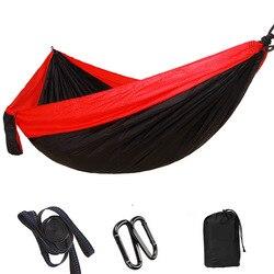 Hamaca para dormir de 2 a 3 personas hamaca colgante para jardín hamaca cama hamaca para exteriores artículos de Camping + cinturón de bucle para árbol de moda 300*200