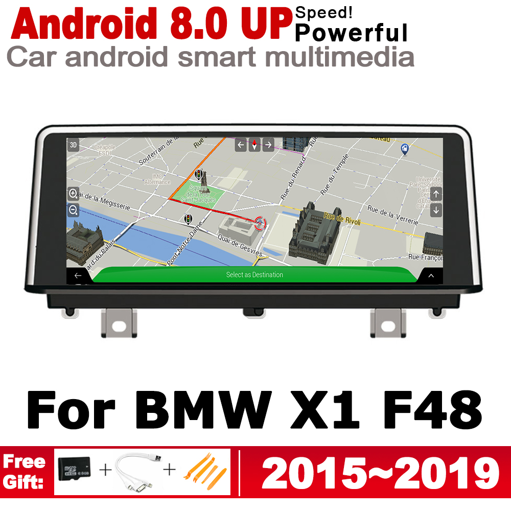 Discount 2G+16G Android 7.0 up Car radio GPS multimedia player For BMW X1 F48 2015~2019 Navigation WiFi BT Radio Media 0