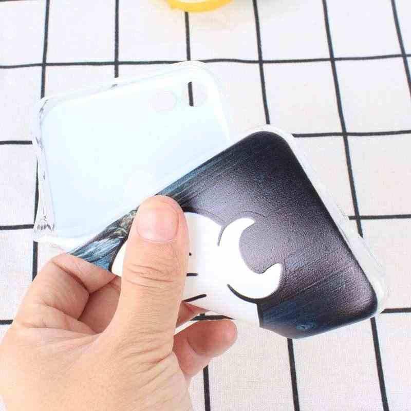 Para Fundas iPhone 7 Soft Case TPU Para iPhone Coque X 7 8 Plus 6 s 6 SE 5S 5 XS Acessórios Capa de Silicone