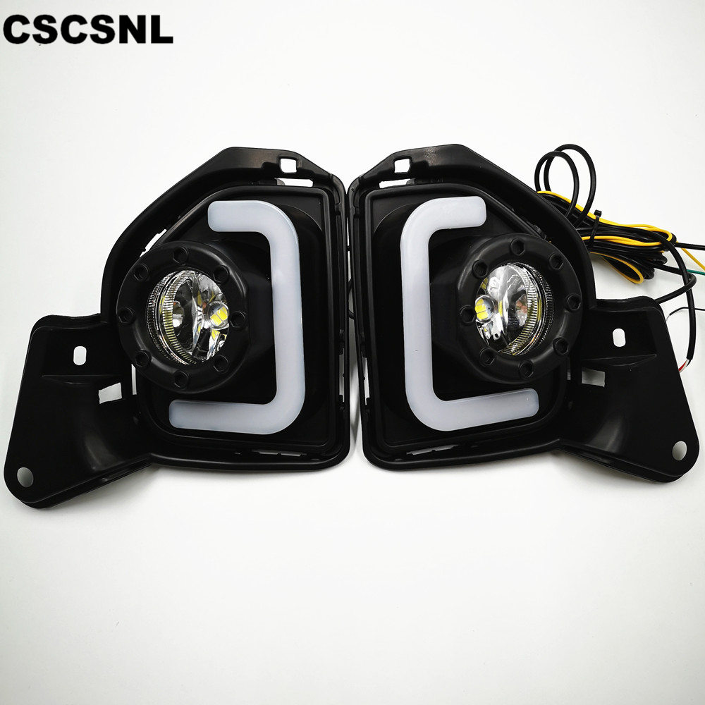 CSCSNL 2PCS LED For Toyota Hiace 2014 2015 2016 2017 2018 With Turn Signal 12V ABS