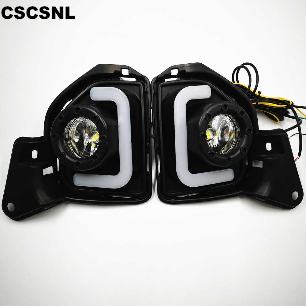 CSCSNL 2PCS LED For Toyota Hiace 2014 2015 2016 2017 2018 With Turn Signal 12V ABS Car Lamp LED DRL LED Daytime Running Light