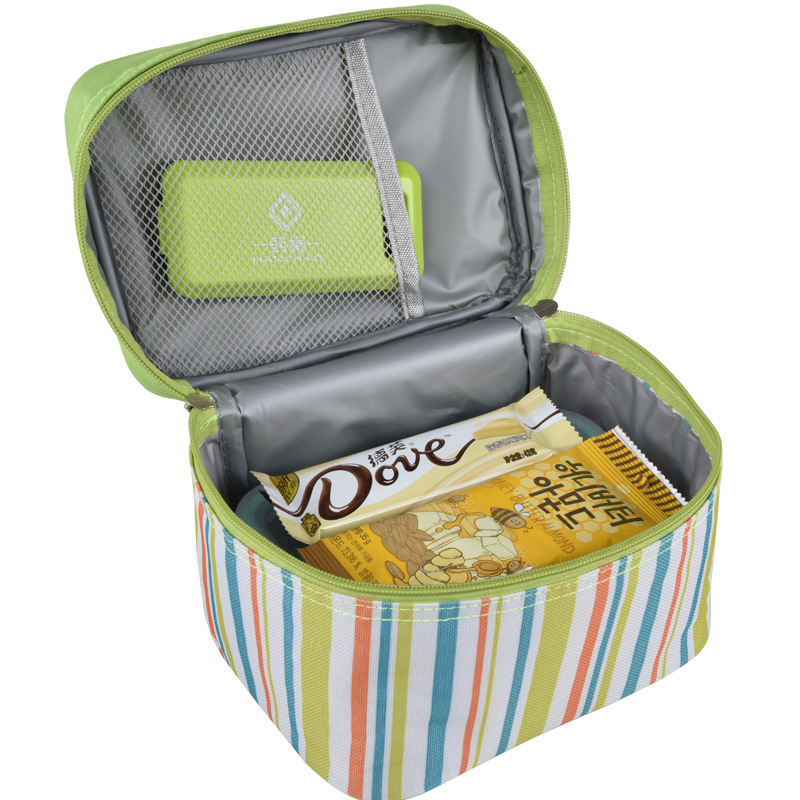 Small Portable Insulated Canvas lunch Bag Thermal Food Picnic Lunch Bags for Women kids Men Cooler Lunch Box Bag Tote WCB48