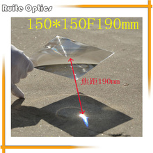 150x150mm Square Plastic Fresnel Condensing Lens Focal Length 190mm for Plane Magnifier,Solar Energy Concentrator 1 pcs lot free shipping diy projector rectangle fresnel lens 200 170mm long focal length 600mm thicknes 2mm frensel lens