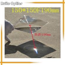 150x150mm Square Plastic Fresnel Condensing Lens Focal Length 190mm for Plane Magnifier,Solar Energy Concentrator 200x200mm square acrylic plastic fresnel condensing lens solar energy focal length 140mm for plane magnifier solar concentrator