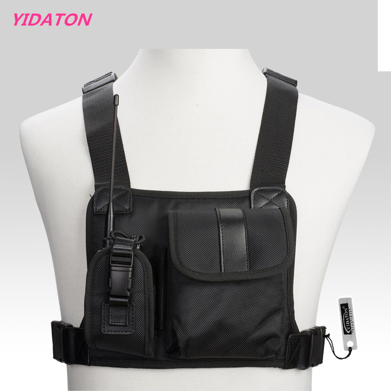 New Walkie Talkie Chest Pocket Pack Backpack Handset Radio Holder Bag For GP340 CP040 BF UV-5R 888S Two Way Radios Carry Case