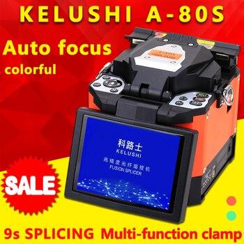 FTTH Automatic Optical Fiber Fusion Splicer Machine Electrode A-80S Fiber Optic Splicers Welding Splicing Machine Orange