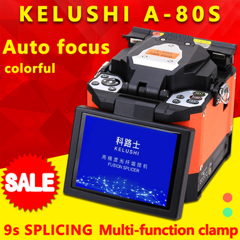 FTTH Optique Automatique Épisseuse à Fusion De Fibers Machine Électrode A-80S Fiber Optique Épisseuses De Soudage Épisseuse Orange