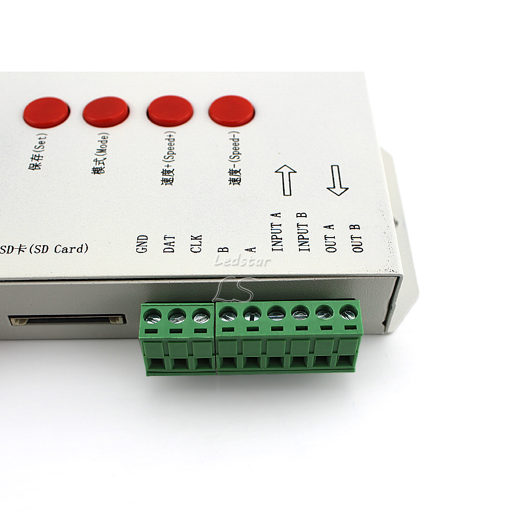 1000 unids WS2811 Pixel led módulo 12mm IP68 RGB difusa direccionable para signo carta DC 5 V + T1000S controlador + adaptador de corriente - 4