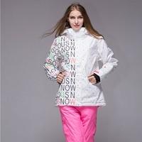 Бренд Для женщин сноубордические куртки для зима теплая до середины бедра Спорт на открытом воздухе Костюмы высокое качество спортивная ку
