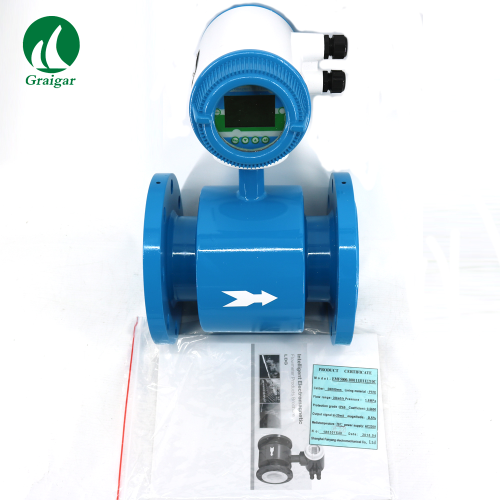 DN100MM Electromagnetic Flow font b Meter b font with 4 20mA Output 4 Flowmeters for Water