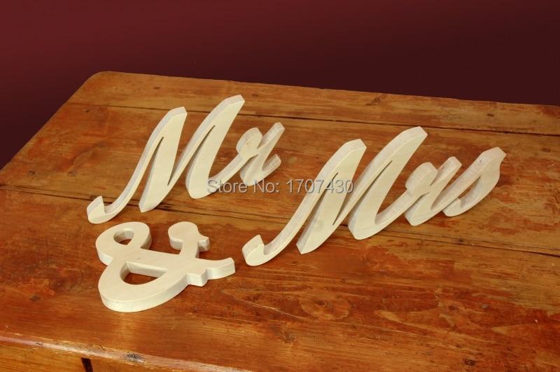 MR & MRS 'Letras de madera Independiente decoración de la boda Mr & - Decoración del hogar - foto 2