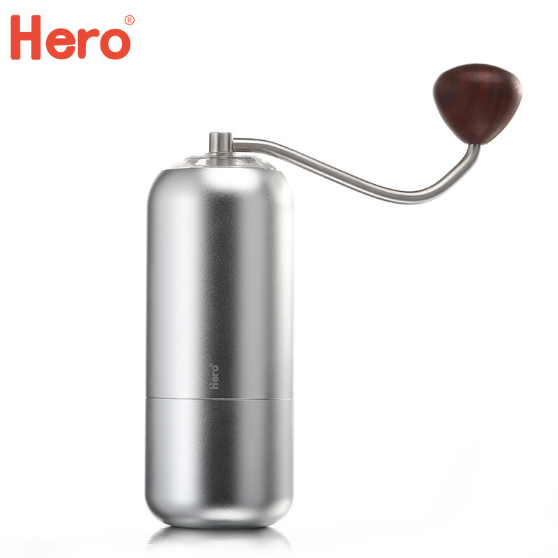 Burr coffee grinder Manual coffee mill Portable Aluminum alloy Stainless steel burr core diameter60mm