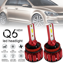 2pcs LED Car Headlight Kit H8 H9 H11 Q6 12000LM 6000K 120W DOB Hi or Lo Light Bulb car accessories for Cars Vehicles Auto