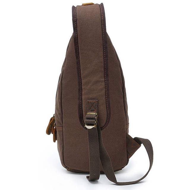 8676e4256df Casual One Strap Backpack Men Rugzakken Canvas Chest Bag Small Crossbody  Shoulder Back Pack Women Single Strap Backpack Rucksack-in Backpacks from  Luggage ...