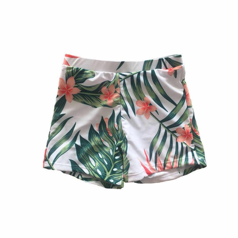 Pantalones cortos de baño con estampado Floral Casual para la playa de verano