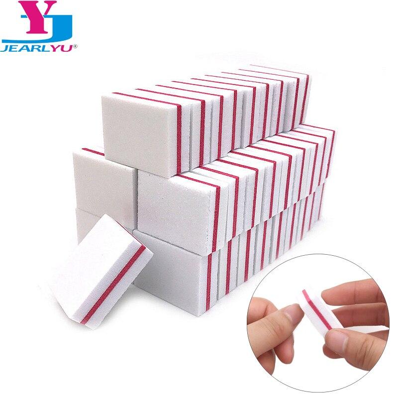 100 X Nail Art Buffer File Block Mini Sponge Sanding Buffing Nail File Tools Lima Unghie 100/180 White Bloc Polissoir Ongle Kit