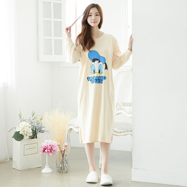 Winter Cotton Women Concise Style Robe Pocket Classic Long Nightgown Sleepwear Sexy Night Dress Nightwear Lounge Gown