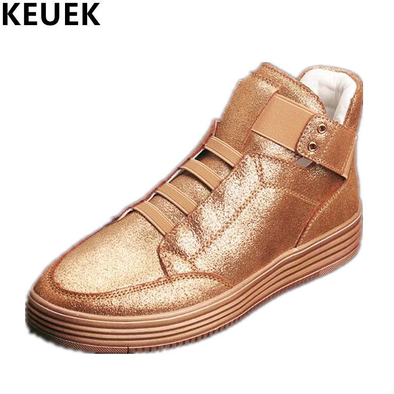 Fashion Sneakers High-top shoes Breathable Personalized Male Casual shoes Genuine leather Flats Youth trend shoes 03 spring autumn fashion men high top shoes genuine leather breathable casual shoes male loafers youth sneakers flats 3a